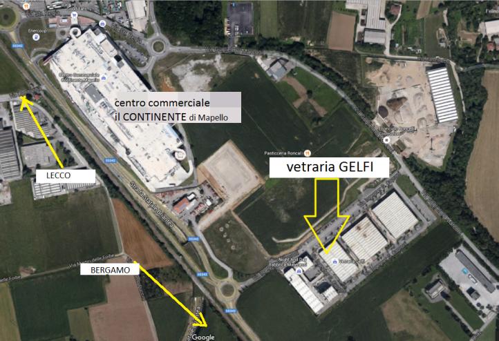 posizione sede Vetraria Gelfi