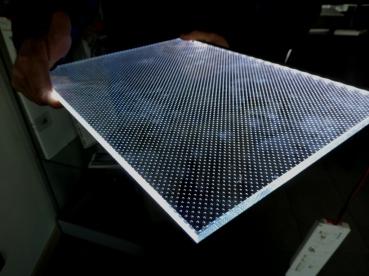 vetro al led per tettoia