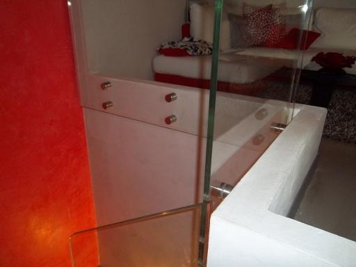 parapetto in vetro sistema di fissaggio