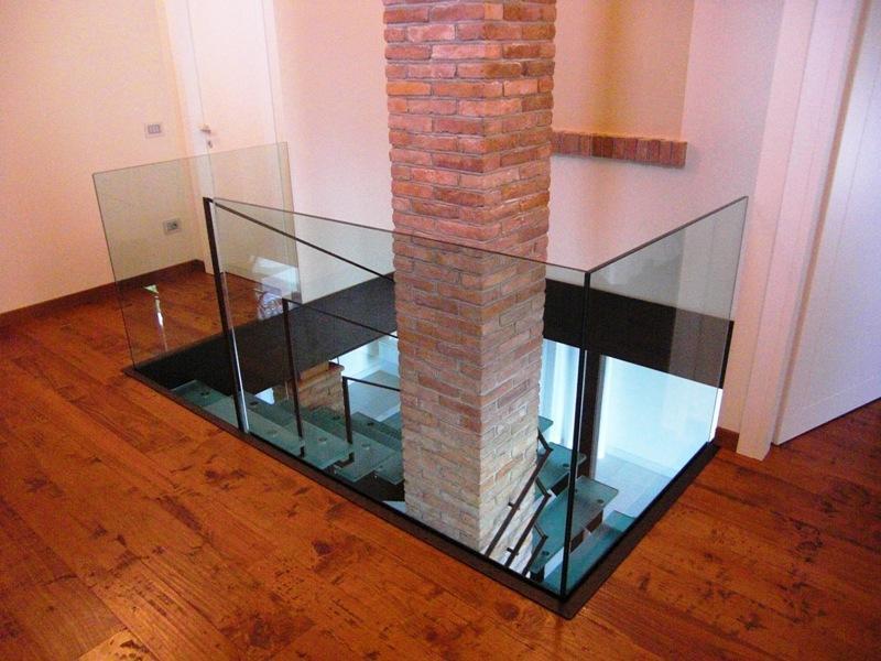 Ben noto parapetti in vetro per interni – vetraria Gelfi Bergamo QU43