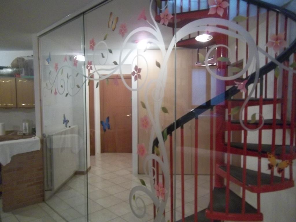 porta in vetro temperata in divisoria
