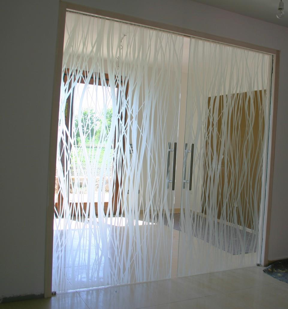 porta in vetro temperata scorrevole interna