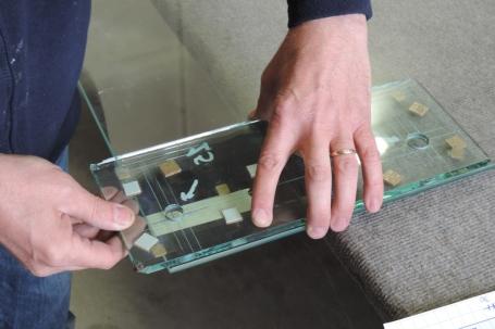 preparazione lastra per tempera vetro