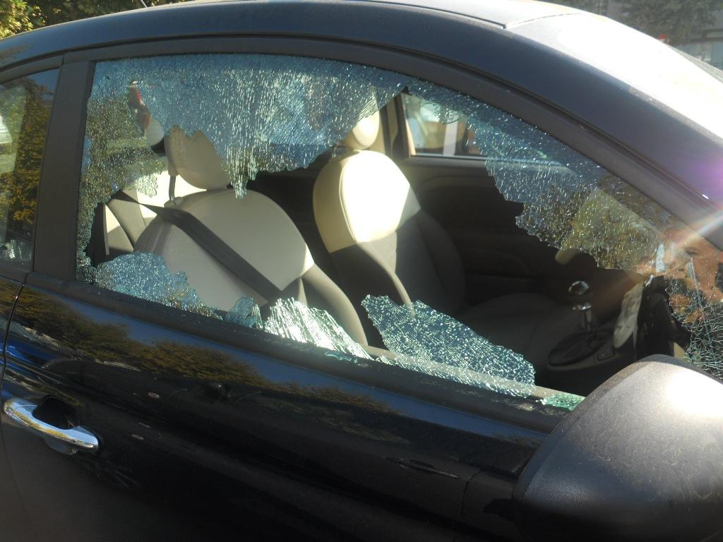 vetro temperato di una automobile