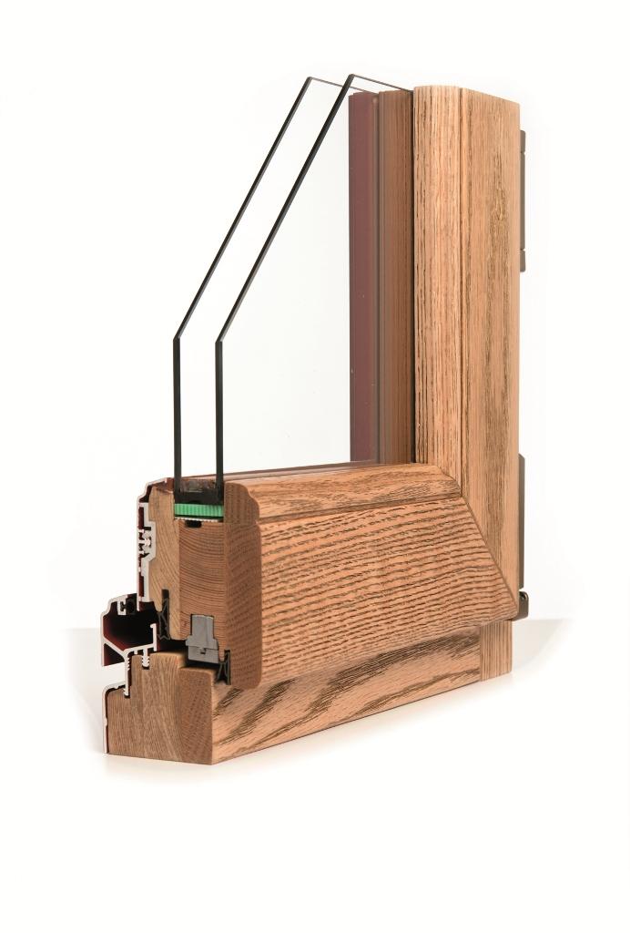 legno lamellare con allumini