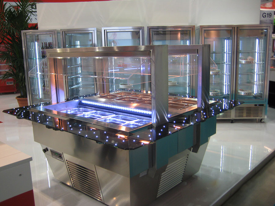vetro led nei banchi frigorifero