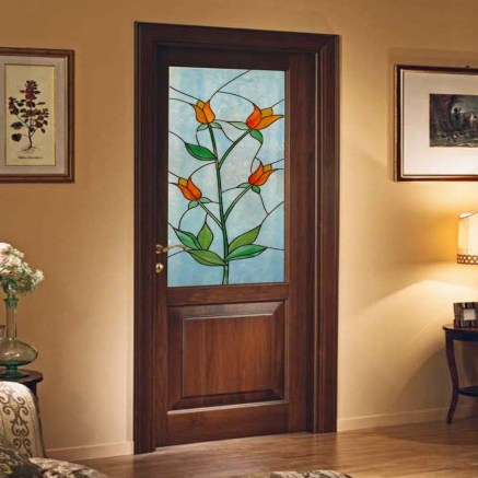 vetro decorato per porta interna