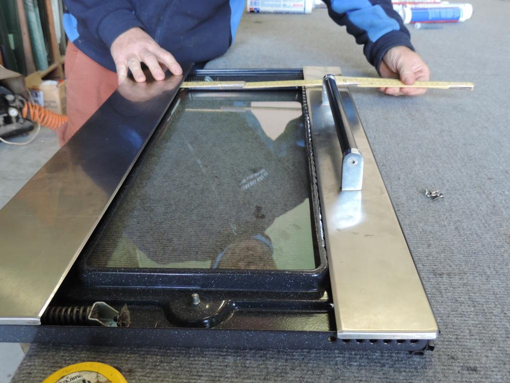 vetro per forno sostituito