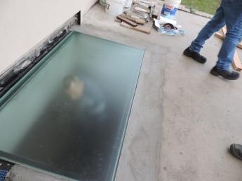vetro calpestabile in sede