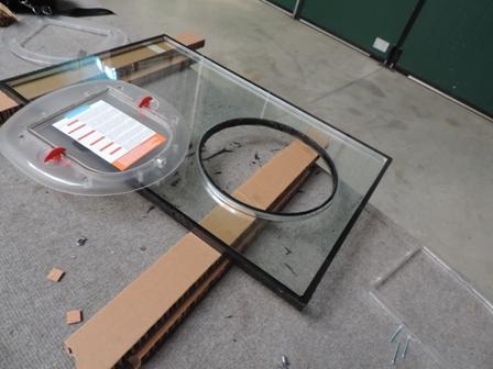 vetro forato per assemblaggio gattaiola