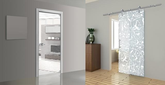 La porta in vetro sostituisce quella in legno vetraria - Porte a vetro decorate ...