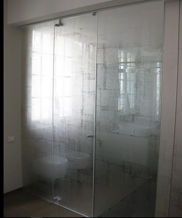 porta cabina doccia in vetro scorrevole