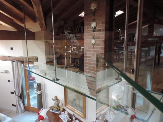 balcone in vetro