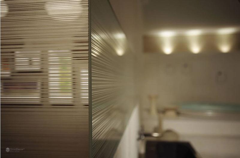 pareti in vetro satinato