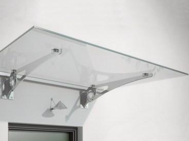 pensilina in vetro con mensole