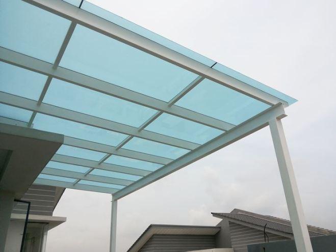 copertura di ampio spazio in vetro