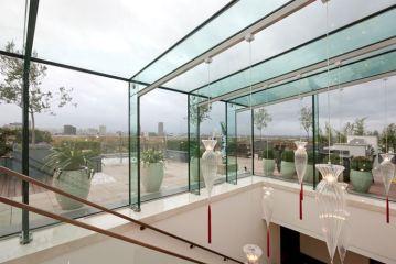 vetro strutturale per pensilina tutto vetro