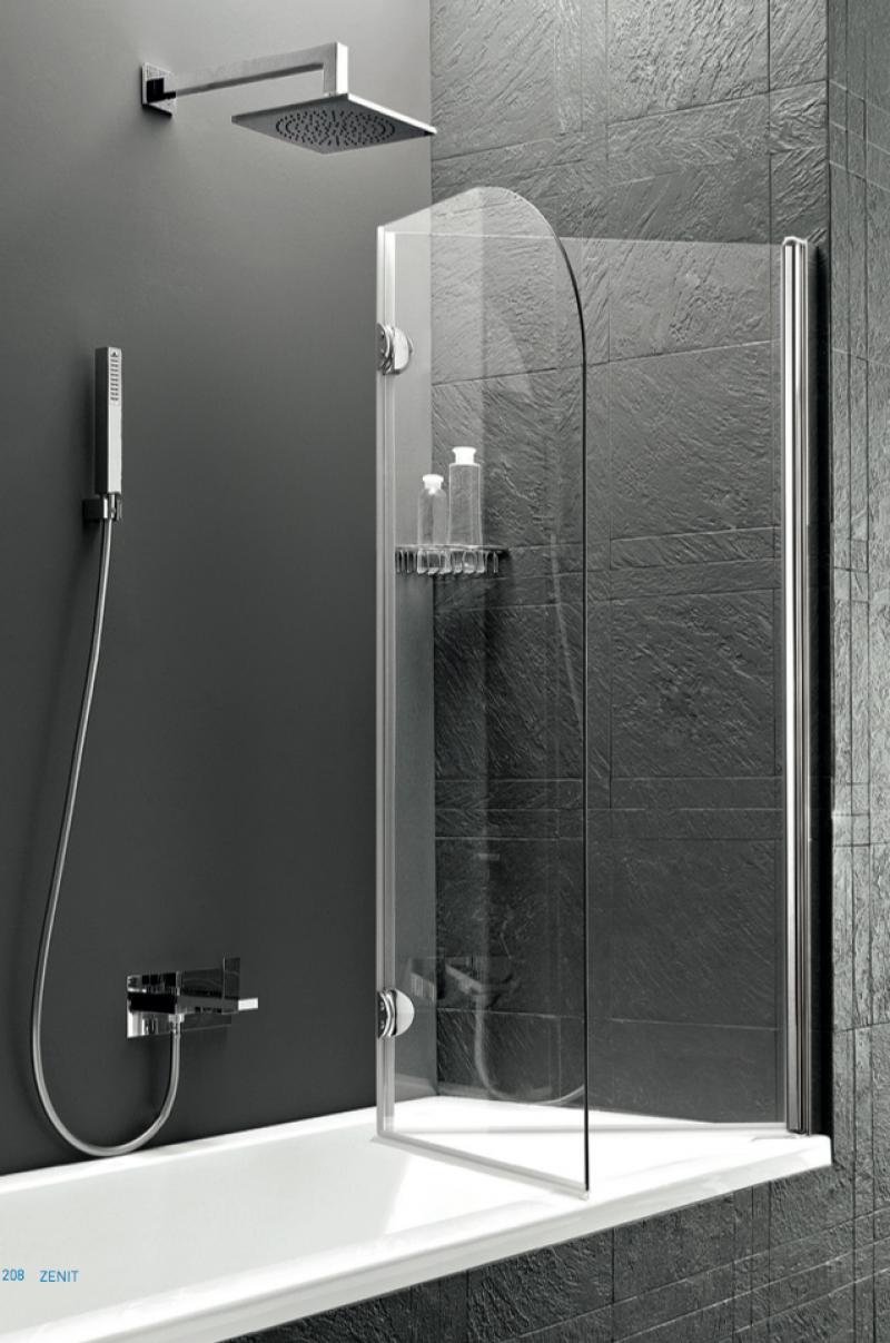 vetro pieghevole a soffietto sopra la vasca da bagno