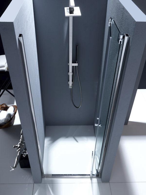 box doccia in vetro con porta ripieghevole a pacchetto