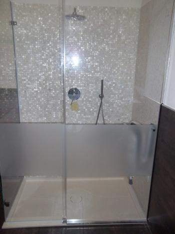 ingresso cabina doccia in cristallo