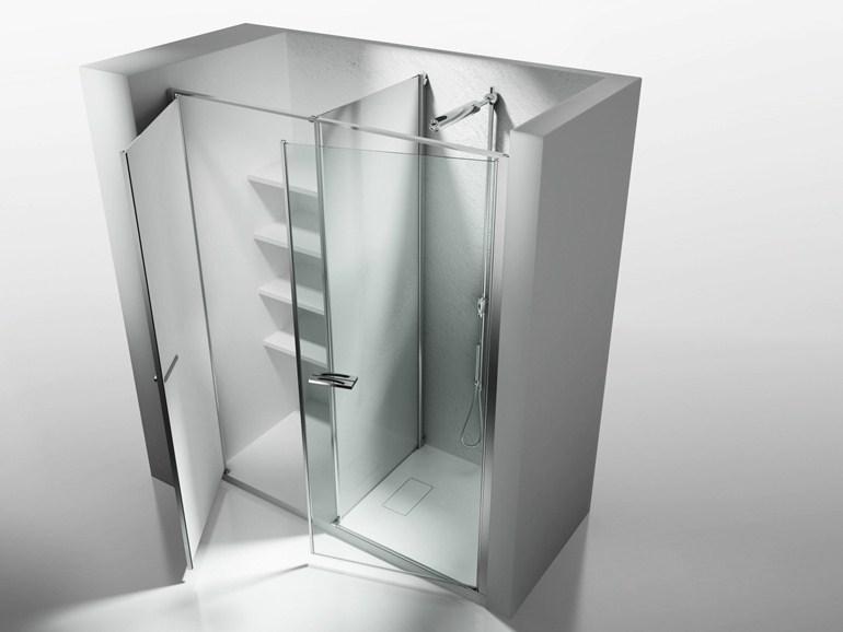 Ripostiglio in vetro mensolato vetraria gelfi bergamo for Piccola doccia della casa
