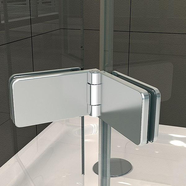 cerniera centrale della cabina doccia in vetro
