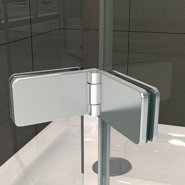 cerniera centrale della cabina doccia in vetro pieghevole a soffietto