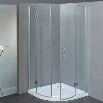 box doccia in vetro curvo con due porte battente