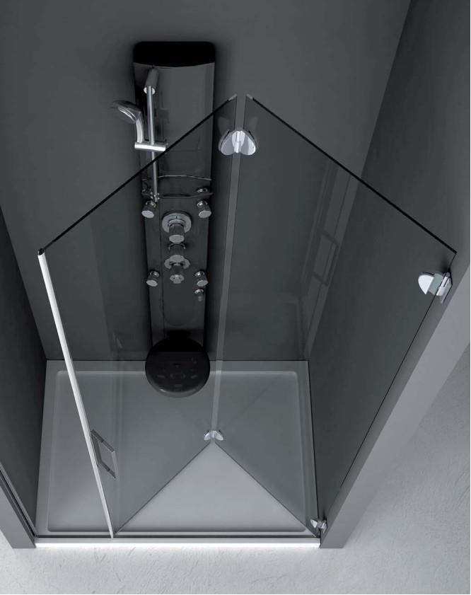 cabina doccia in vetro in nicchia