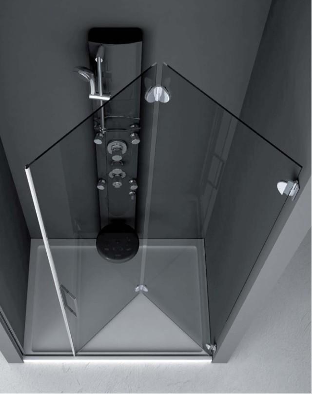 Cabina doccia pieghevole vetraria gelfi bergamo - Porta a soffietto in vetro ...
