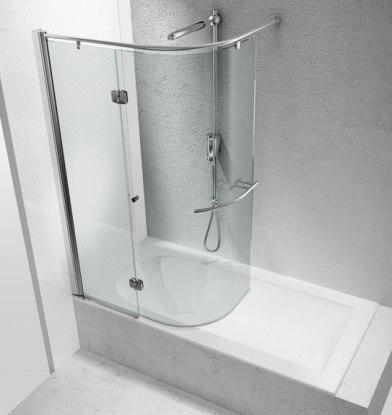 box doccia sopravasca con apertura curva
