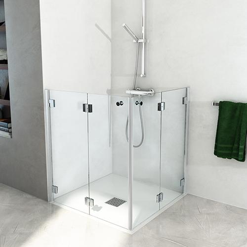 cabina doccia in cristallo per disabile mini