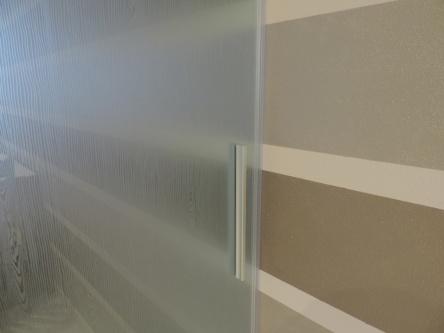 parete in vetro mobile a scomnparsa