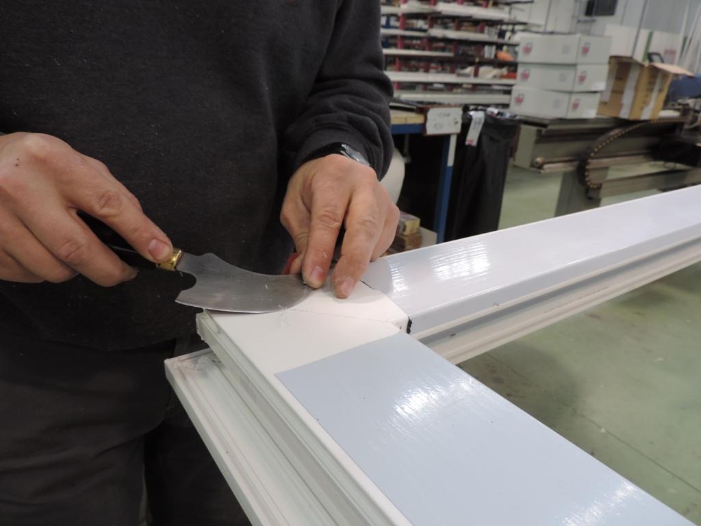 pvc con fibra di vetro cura degli angoli
