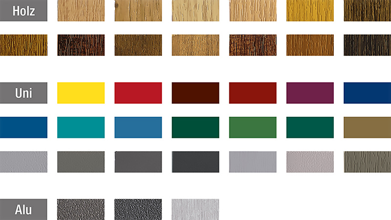 i colori del pvc