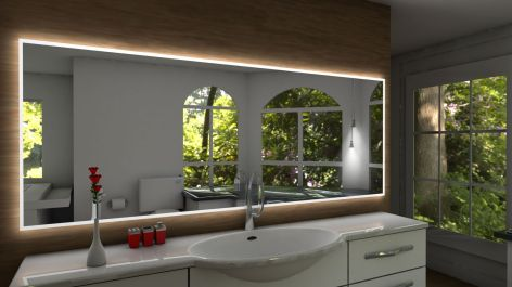specchio con cornice al LED