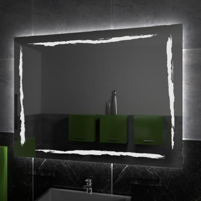 Specchio da bagno vetraria gelfi bergamo - Specchio con lampadine ...