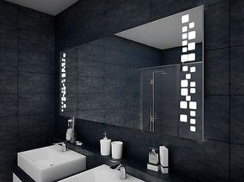 decorazione al led per lo specchio del bagno