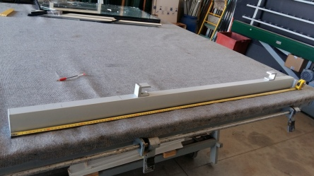 parapetto in alluminio vetro