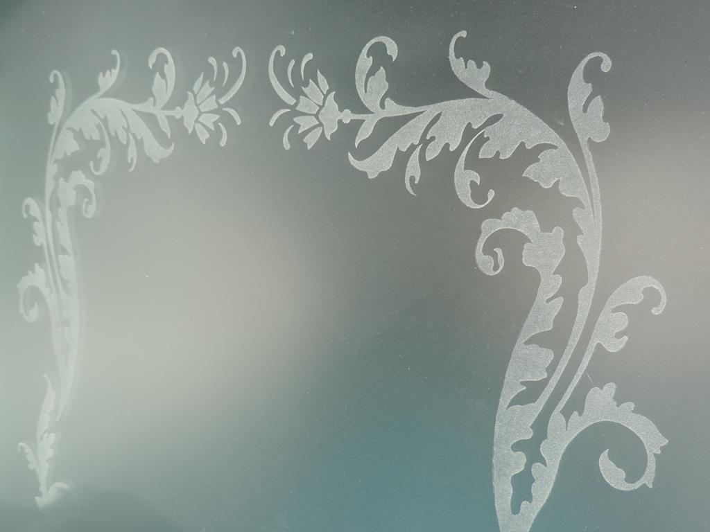 Excellent vetro satinato decorato con la tecnica della - Specchi antichi prezzi ...