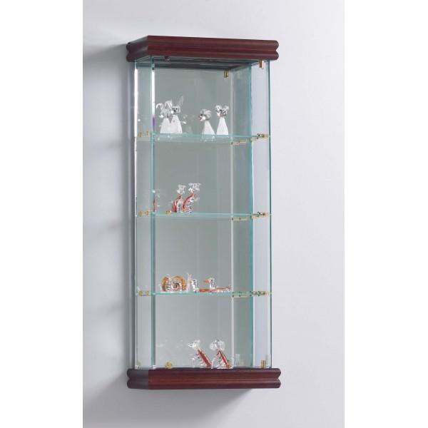 vetrinetta espositiva con pupazzi in vetro