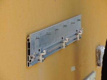 barra di fissaggio a muro della pensilina in vetro