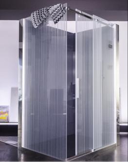 vetro all'acido con linee verticali continue ma differenzaite nello spessore