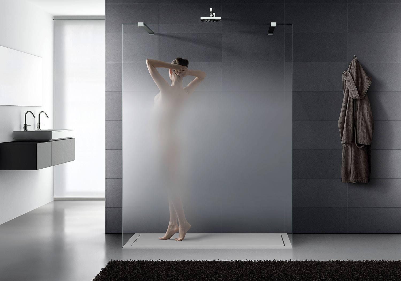 vetro satinato per box doccia