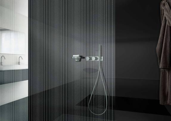 vetro satinato per box doccia senza porta
