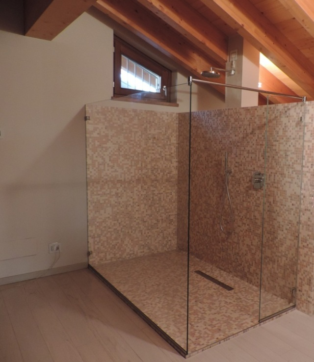 Cool box doccia walk in ultimato with doccia senza box - Cabina doccia senza piatto ...