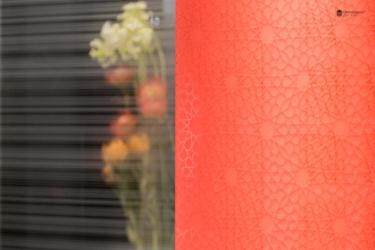 modello di satinatura e laccatura arabesque su vetro
