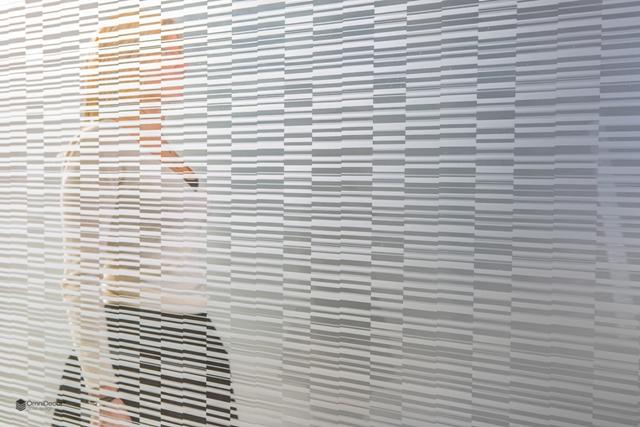 disegno satinato su vetro del codice a barre
