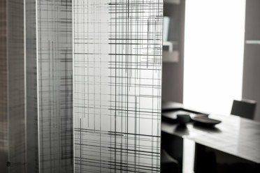 parete divisoria in vetro pieghevole