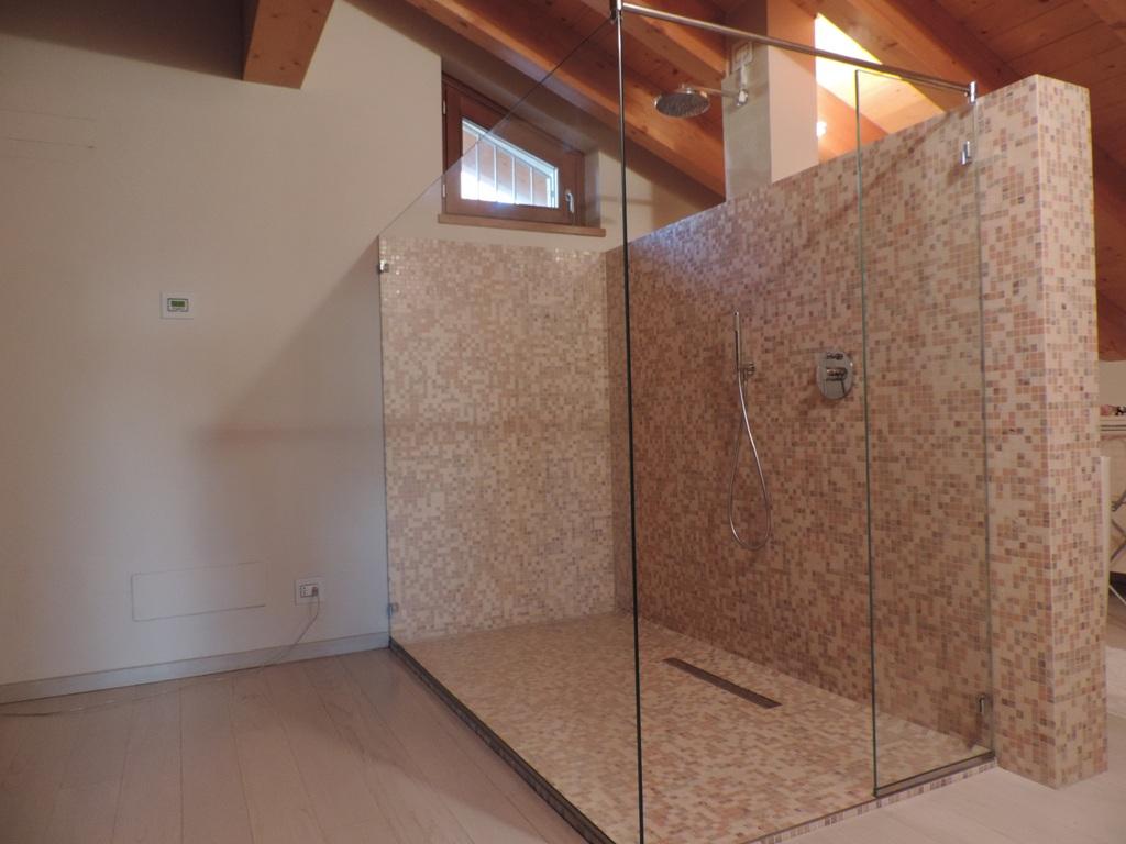 cabina doccia in vetro solo vetro fisso senza porta